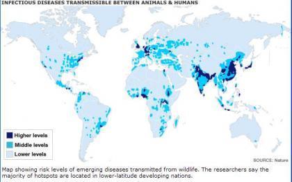Donde en el mundo están las enfermedades infecciosas