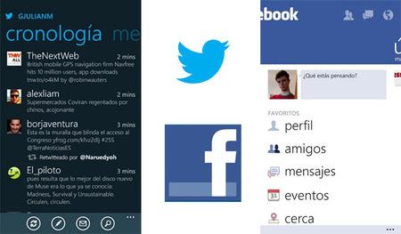 Twitter y Facebook en Windows Phone