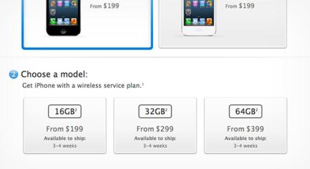 Tiempos de espera para el iPhone 5