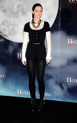 El look de Emily Blunt en la presentación de El Hombre Lobo en Madrid