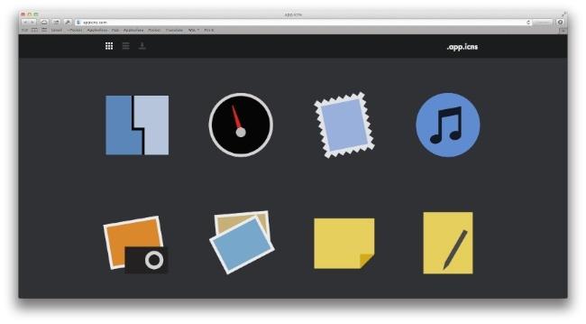 Iconos minimalistas OS X