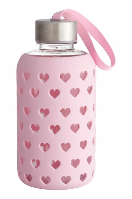 Botella de agua con diseño romántico