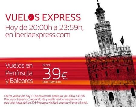 Iberia anuncia 'Vuelos Express' ¡comprando solo hoy!