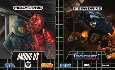 Estas son las portadas retro de Cyberpunk 2077 o Among Us que recuerdan a las carátulas de la época de 16 bits