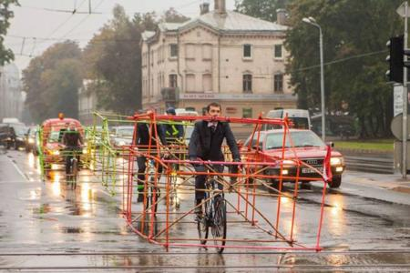 Todo este espacio es el que ahorran las bicicletas en la ciudad