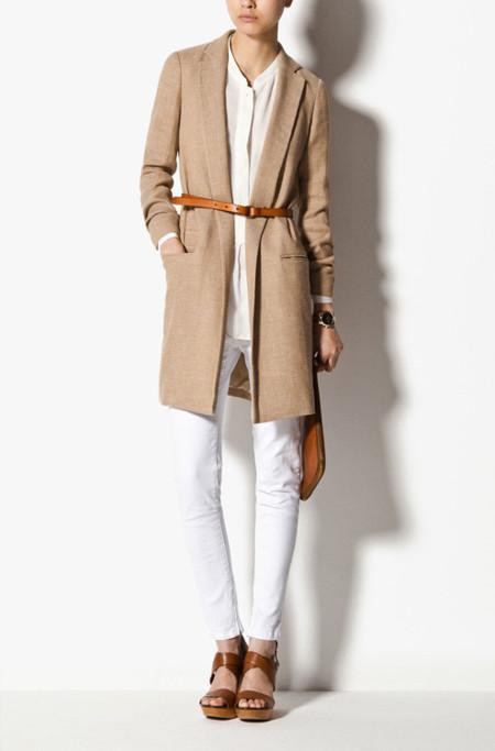 Massimo Dutti abrigo camel