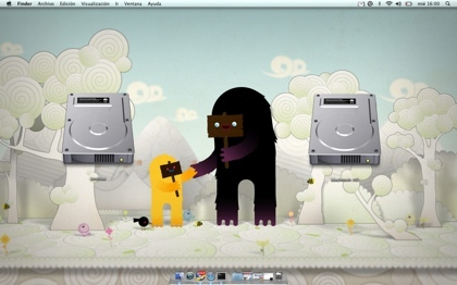Iconos gigantes en Mac OS X Leopard