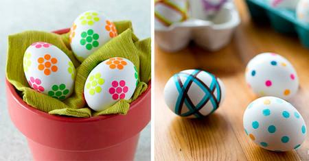 Como Decorar Huevos De Pascua Con Pegatinas