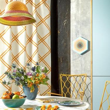 Color y geometría, claves de Playtime: la primera colección textil que Paula Serrano ha diseñado para Pepe Peñalver