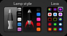 Nueva versión personalizable del widget LavaLamp