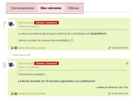 Nuevo sistema de comentarios en XatakaMóvil