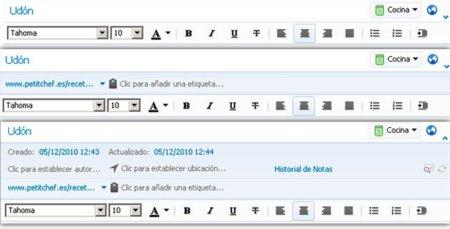 Evernote 4.1: Cambiar visibilidad de la cabecera de las notas