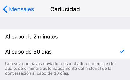 Caducidad Mensajes Iphone 2