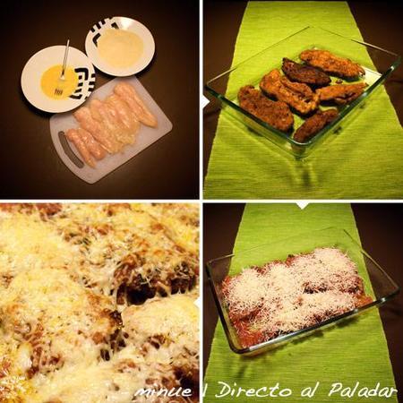 pechugas empanadas y gratinadas - elaboración