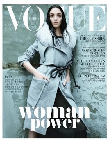 Mariacarla es la mujer de hielo en el nuevo número de Vogue Corea