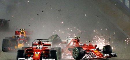 Drama y choques se vivieron en un decisivo Gran Premio de Singapur