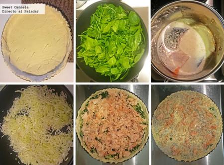 Preparacion Tarta Salmon