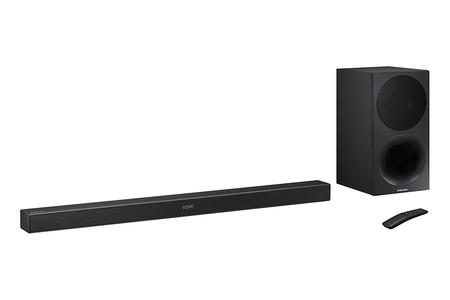 La barra de sonido 2.1 Samsung HW-M450/ZF, en los Días Rojos de Mediamarkt, está rebajada a 245 euros