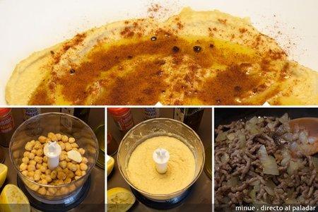 Hummus royale - elaboración