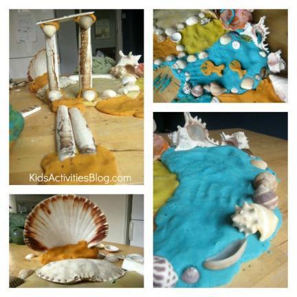 Manualidades con niños: recrea el océano con plastilina