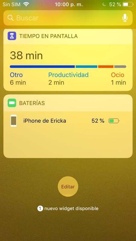 tiempo en pantalla