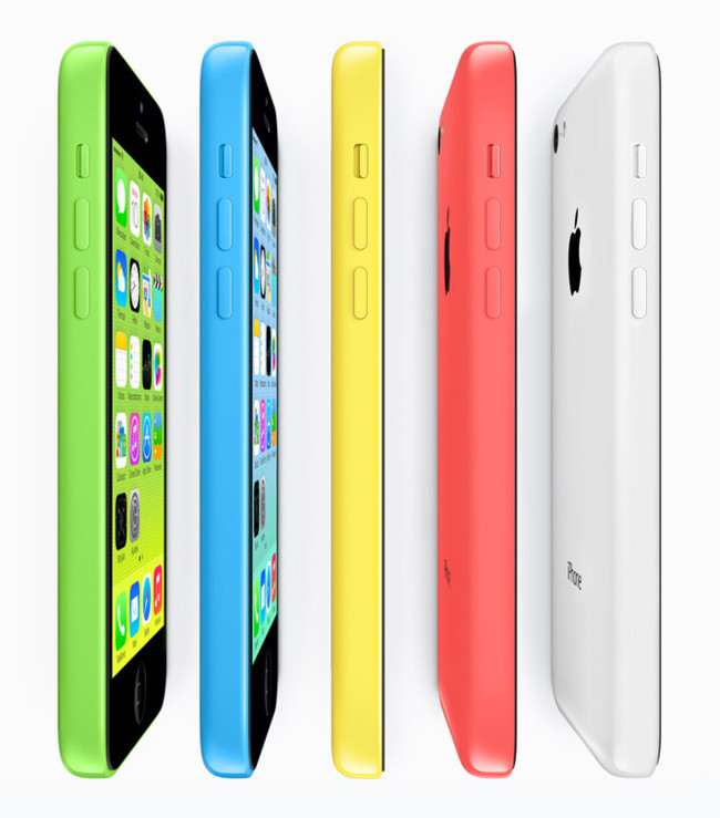 Gama de colores del iPhone 5c
