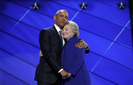 Barack Obama Hillary Clinton Hug Photoshop Battle