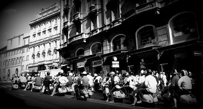 Scooter por Roma