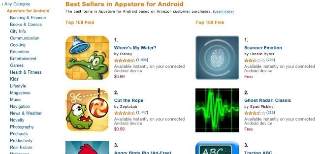 amazon app store aplicaciones android tienda