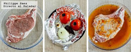 Chuleta Salsa Chipotle Receta
