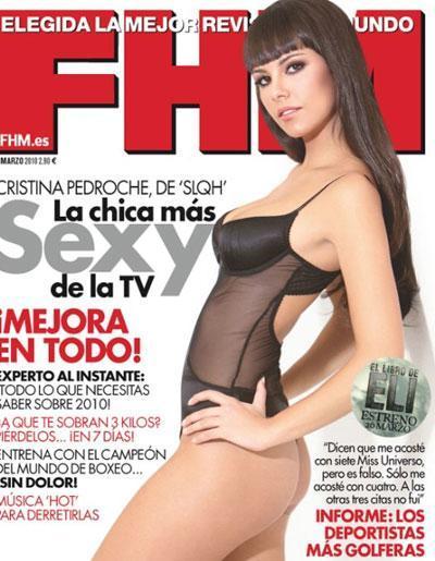Cristina Pedroche en la nueva portada sexy de FHM