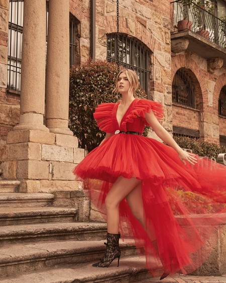 Giambattista Valli Hm Red Dress Tulle 01