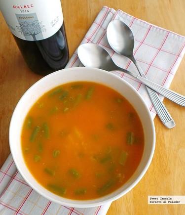 Sopa de jitomate y arroz. Receta