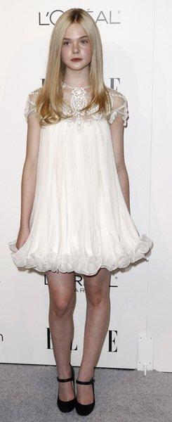 Elle Fanning vestido marchesa