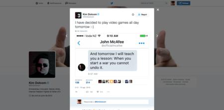 """McAfee amenaza a Dotcom: """"cuando empiezas una guerra no puedes pararla"""""""