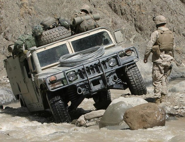 Humvee, HMMWV, High Mobility Multipurpose Wheeled Vehicle