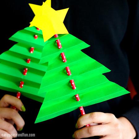 Diy Navidad 09 Arbolito Acordeon