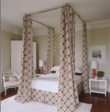Dosel con barras de cortina