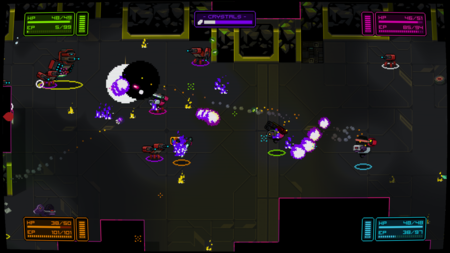 NeuroVoider quiere ser una especie de Gauntlet espacial que nos enfrentará a 8.736 enemigos