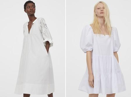 Hm Vestido Blanco Verano 2020 01