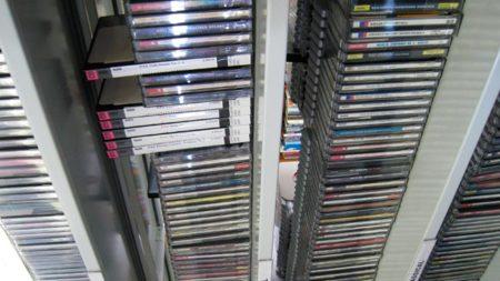 Música en una biblioteca