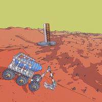 Construir rovers espaciales de todo tipo y unas físicas muy juguetonas en Mars First Logistics, el simulador de transporte marciano
