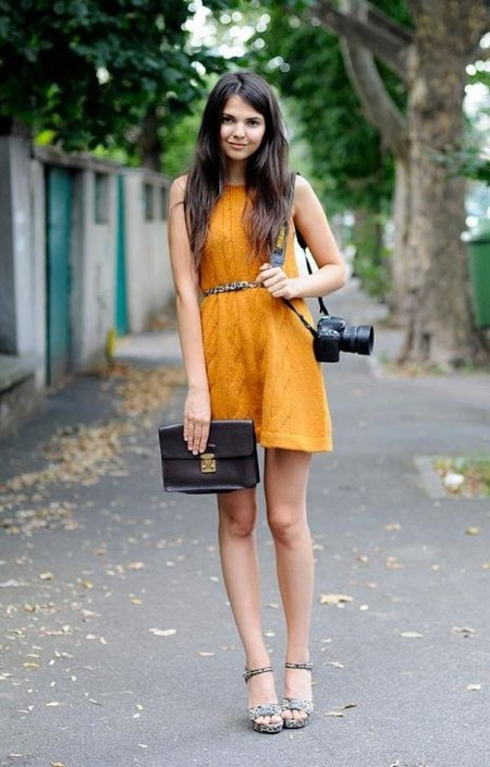 vestido de punto streetstyle