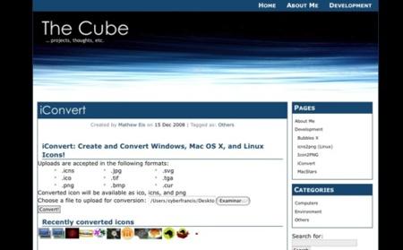 Iconvert, realiza conversiones de iconos para Windows, Mac OS X y Linux