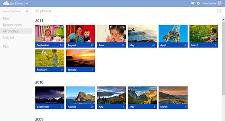 SkyDrive se actualiza para acercarse a la fotografía