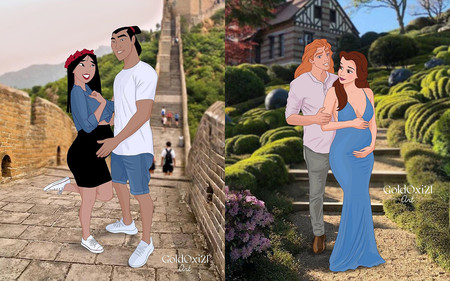Las princesas Disney esperan bebé: una ilustradora nos muestra cómo se verían las princesas embarazadas