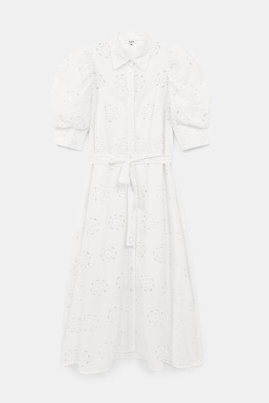 Vestido Desigual midi en color blanco