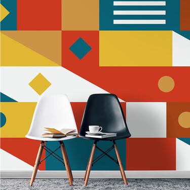 Alerta tendencia: inspiración geométrica y colores alegres para crear paredes de impacto esta temporada