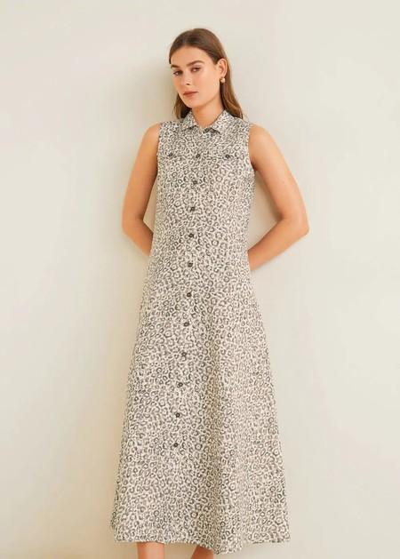 vestidos de lino mango