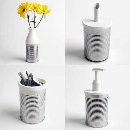 Latas reutilizables gracias a nueve tapas diferentes